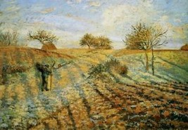 16X20 inch Pissarro Camille Hoarfrost Sun Canvas Art Reproduction - $23.70