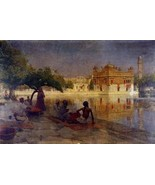 16X20 inch Weeks Edwin The Golden Temple Amritsar 1890 Canvas Art - $23.70