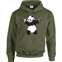 090 Panda Hoodie gun activist world peace green retro asia NEW ALL SIZES/COLORS - $30.00