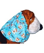 Dog Snood Blue Princess Pups Cotton T-Shirt Knit Size Large CLEARANCE - $6.25