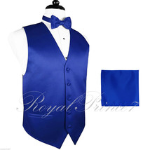 ROYAL BLUE 10-I Tuxedo Suit Vest Waistcoat and Butterfly Bow tie & Hanky... - $18.79+