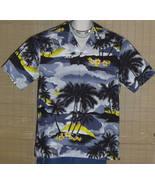 JADE FASHIONS Hawaiian Shirt Gray Yellow XL NWOT - $16.95
