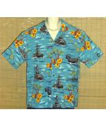 Kalaheo Hawaiian Shirt Blue Battleships XL - $39.95