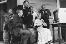 Gary Cooper and Grace Kelly and Thomas Mitchell in High Noon on set watching tv  - $23.99