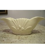 Beautiful Vintage Cream / White Oblong  Lily Flower Pattern Planter Mark... - $28.22