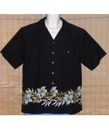 St. John's Bay Hawaiian Shirt Black Large - $19.95