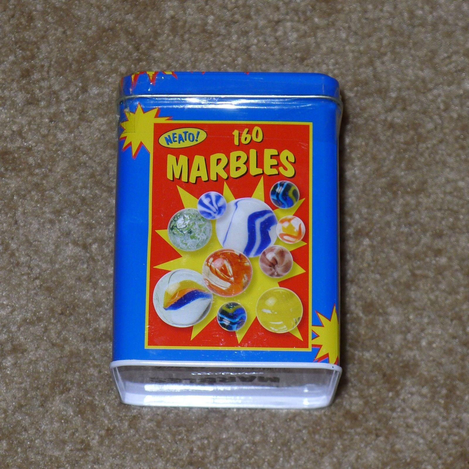 Primary image for NEW Marbles in a Tin Box, 160-Piece NEATO