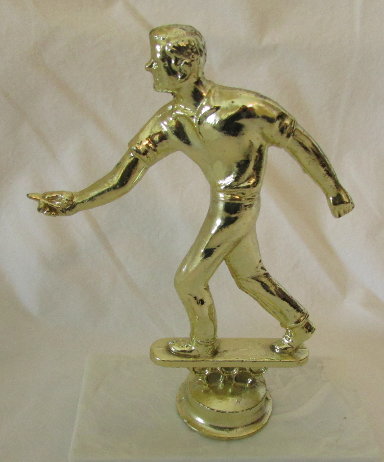 Primary image for Vintage Dartball Player Trophy Topper (Figurine)