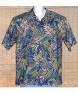 Tori Richard Hawaiian Shirt 1960s Blue Green XL - $49.99