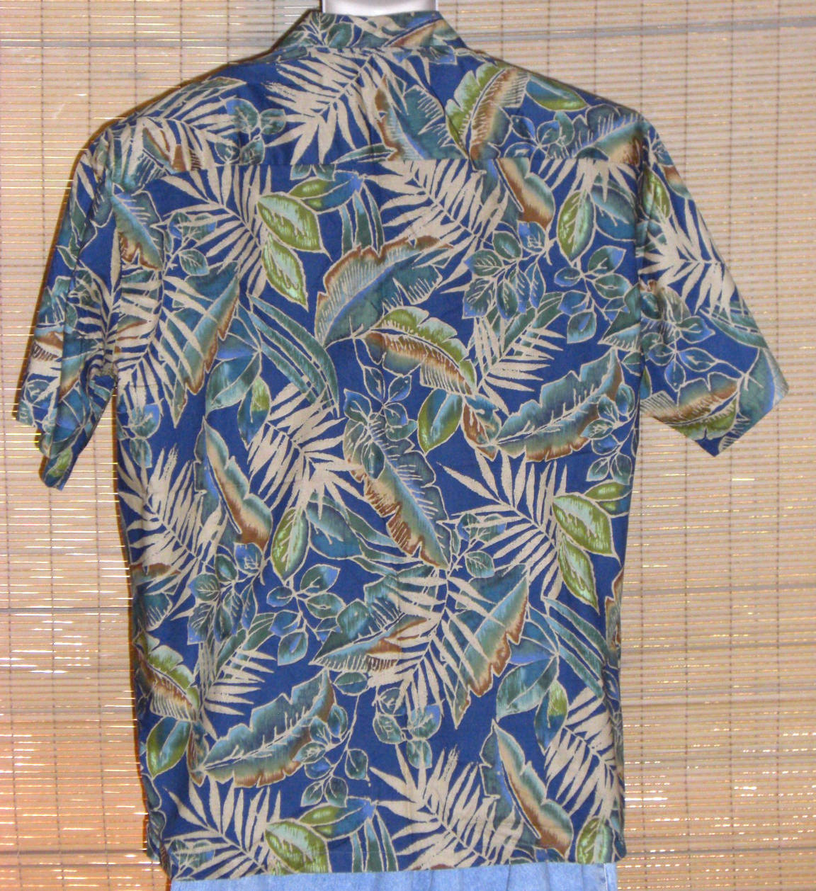 Tori Richard Hawaiian Shirt 1960s Blue Green XL