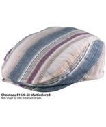 Who Ced Chouteau New Shaped Driver Cap Distressed Mutil Colored Stripes - $45.00