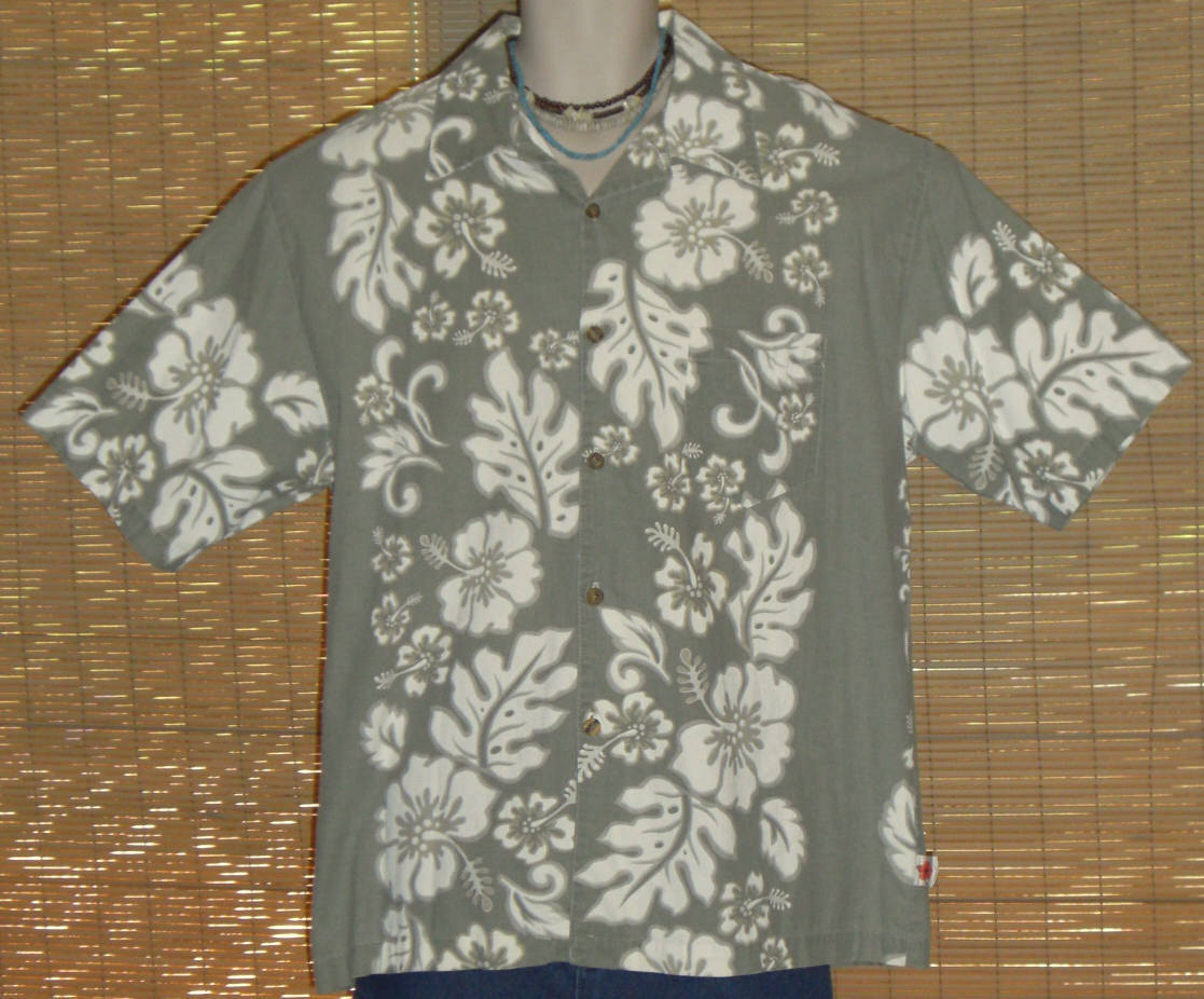 MCD Classics Hawaiian Shirt Dusty Green Large
