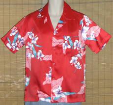 Made In Hawaii Hawaiian Shirt Red Small - $15.95