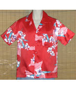 Made In Hawaii Hawaiian Shirt Red Small - $15.95