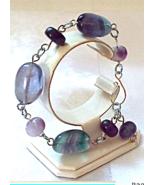 Jewelry By Two Gems (B32)  Fluorite Nugget Bracelet - $35.00