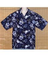 ODO Hawaiian Shirt Blue White XL NWOT - $16.95