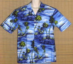 Royal Creations Hawaiian Shirt Blue Islands XL NWOT - $24.99