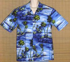 Royal Creations Hawaiian Shirt Blue Islands XL NWOT - $26.95