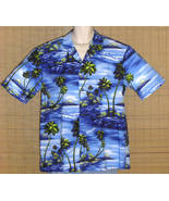 Royal Creations Hawaiian Shirt Blue Islands XL NWOT - $26.95