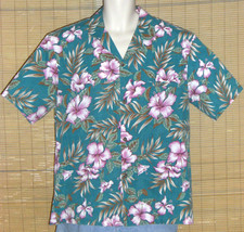 Royal Creations Hawaiian Shirt Green Pink XL - $19.99