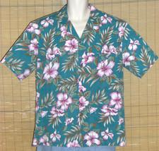 Royal Creations Hawaiian Shirt Green Pink XL - $29.95