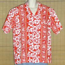 Royal Creations Hawaiian Shirt Red White XL - $29.95