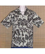 Royal Creations Hawaiian Shirt Beige Black Small NWOT - $19.99