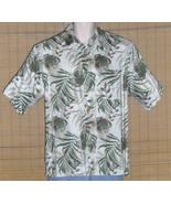 Puritan Hawaiian Shirt 1980s White Green Medium - $17.95