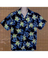 Pineapple Connection Hawaiian Shirt Blue Green Medium - $14.95