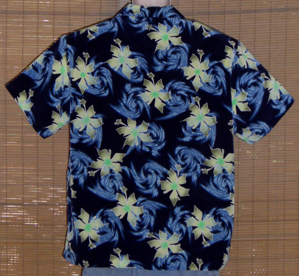 Pineapple Connection Hawaiian Shirt Blue Green Medium