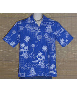 Royal Creations Hawaiian Shirt Blue White Large LN - $22.99