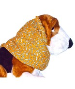 Dog Snood Nuts Bolts Gold Cotton Cavalier KC Spaniel Cocker Lhasa Puppy ... - $9.50