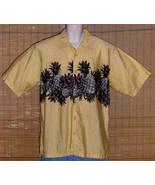 Puritan Hawaiian Shirt Golden Yellow Pineapples Large - $14.95