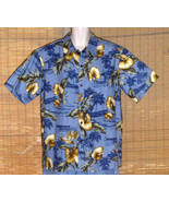 Paradise Bay Hawaiian Shirt Blue Tan XL NWT - $19.95