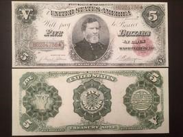Reproduction $5 1891 Treasury Note Currency Maj Gen George H. Thomas Civil War - $2.96