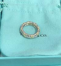 Tiffany & Co SCHLUMBERGER Ring 1.14ct 16 Diamonds Eternity Uk Size J BHS - $6,715.94