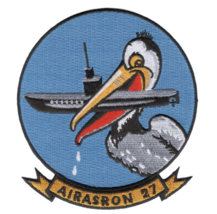 """4.5"""" NAVY VS-27 ANTI SUBMARINE SQUADRON PELICAN EMBROIDERED PATCH - $18.04"""