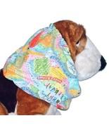 Dog Snood Happy Birthday Multicolor Cotton Basset Hound Springer Spaniel... - $12.50