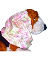 Dog Snood Delicate Pink Green White Floral Cotton Bloodhound Stndrd Pood... - $13.50
