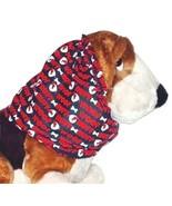 Dog Snood Dog Talk Flannel Black Red White Basset Spaniel Afghan Puppy R... - $10.50