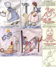 1940's newspaper Detroit News Mother Goose quilt pattern-redwork   - $10.00