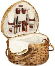 Primary image for Picnic Heart Basket With Accessories