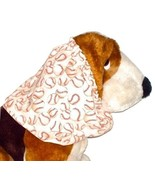 Beige Baseballs Print Cotton Dog Snood Size Puppy REGULAR CLEARANCE - $5.25