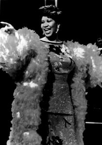 Primary image for Aretha Franklin Vintage 8X10 BW Soul Music Memorabilia Photo