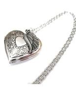 Heart Locket Necklace with Angel Wing for a Special Friend or Loved One - $25.00