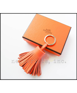 AUTH NWB Hermes Carmen Bicolor CREVETTE/CORNALINE Lambskin Keyring or Ba... - $395.00