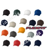 Flexfit 6277 Structured Twill Baseball Blank Plain Hat Cap New