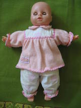 VINTAGE -CUDDLY SMALL DOLL-w/sleeoy Eyes,eyelas... - $5.00