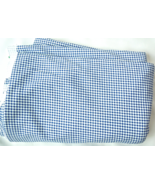 2 Yd Light Weight Cotton Flannel Navy Blue and White Checkered Fabric #4... - $7.00