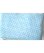 """2  1/2 Yds x 62"""" W Light Weight Flannel Fabric - Blue and White Checked ... - $7.00"""